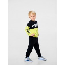 Штаны спортивные для мальчика, черные, ТМ Смил